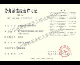 劳务派遣经营许可证 (副本)